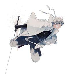sakata gintoki (gintama) drawn by urahara - Danbooru All Anime, Anime Manga, Anime Art, Silver Samurai, Gintama, Okikagu, Anime Kunst, Arte Popular, Anime Style