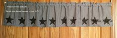 Valance- primitive homespun, calico, embroidered lace curtain by WhimsicallWears…