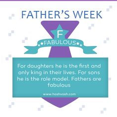 Hashvash is celebrating Father's week. We will try and explain each letter of the word FATHER, every day. #fathersday #hashvash  www.hashvash.com Role Models, Wish, Sons, How To Become, Father, Lettering, Celebrities, Day, Respect