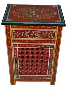 Wood Painted Dresser Single Red