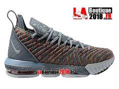 Nike Lebron 16 EP LBJ Gris/Rouge Chaussures Officiel Nike Basket Prix Pour Homme