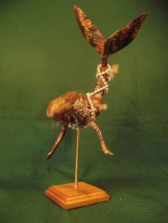 Cornish Mermaid Folk Art Mythical Figure Assemblage Sculpture Oddity Curio OOAK
