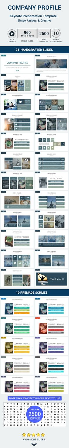 company profile powerpoint template dark blue preview PPT - company profile sample download