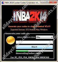 NBA 2k14 Locker Code Generator