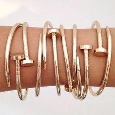 bracelet clou or