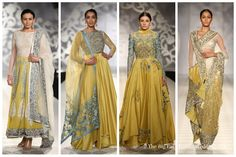 Yellow Blue couture designs by Varun Bahl | India Couture Week 2014