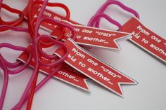 like a pretty petunia: [Valentine] Crazy about Crazy Straws!