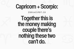 #capricorn & scorpio