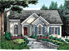 Cottage House Plan with 1124 Square Feet and 3 Bedrooms(s) from Dream Home Source | House Plan Code DHSW05882