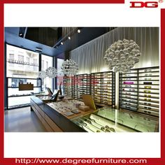 Concise and elegant style optical store design and sunglasses shop, View optical store design, DG Product Details from Guangzhou Xinchangyua...
