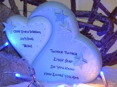 Twinkle Twinkle Heart Birth/Christening gift.