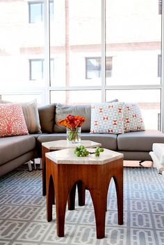 Home Tour: A Modern Small Space in San Francisco via @domainehome I like the colors and the clean clutter free look