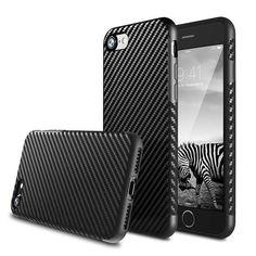 Carbon Fiber Soft Rugged Case for iPhone 5 5s SE 6Plus