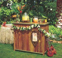 Enjoy a backyard Luau using Cost Plus World Market's Antigua Outdoor Bar >> #WorldMarket Outdoor Entertaining
