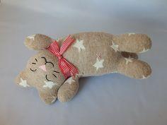Nap Time Kitty Plush Toy, Cat Plushie, Cat Stuffed Animal, Stuffed Toy, Sock Monkey by SockSockWorld on Etsy