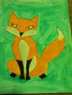 A fox I traced in art class