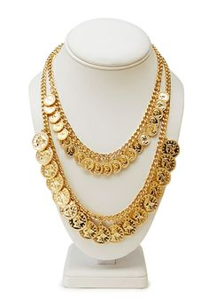 Forever 21 is the authority on fashion & the go-to retailer for the latest trends, styles & the hottest deals. Gold Coin Necklace, Pearl Necklace, Gold Jewellery Design, Gold Jewelry, Shop Forever, Forever 21, Gold Chains, Jewelry Sets, Coins