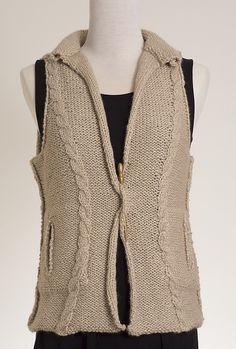NobleKnits.com - Kennita Tully Moonstone Vest Knitting Pattern PDF, $6.50 (http://www.nobleknits.com/kennita-tully-moonstone-vest-knitting-pattern-pdf/)
