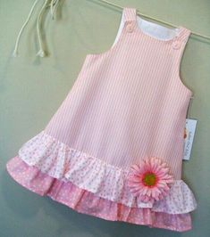 Cotton Candies Stripe Childrens Pink ALine Girls by sugarch This Pin was discovered by Ira Imagem relacionada by melody Frocks For Girls, Kids Frocks, Dresses Kids Girl, Cute Dresses, Dresses Dresses, Dance Dresses, Toddler Dress, Toddler Outfits, Kids Outfits