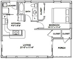 PDF house plans, garage plans, & shed plans. Building A Shed, Building Plans, Building Ideas, The Plan, How To Plan, Granny Pod, Small House Floor Plans, Backyard Cottage, Tiny House Cabin