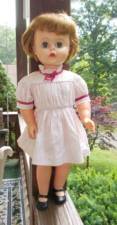 """MISS BEAUTY PARLOR~VINTAGE DELUXE READING DOLL`25"""" ALL ORIGINAL`1957 #DELUXEREADING #Dolls"""