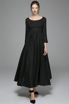 Linen dresses for womenBlack dress Maxi dressLinen by xiaolizi