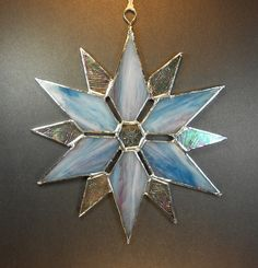 Turquoise Blue Snowflake Holiday Ornament by jacquiesummer on Etsy