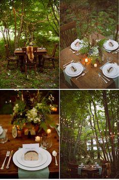 Gorgeous woodland wedding!