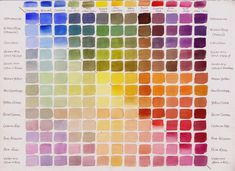 Color mixing charts color mixing chart mad and watercolor