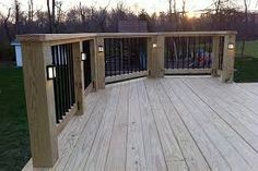 Deck Lighting Extends Party Time On Your And Adds Safety Too Fixtures Posts Offer Ambient Signal The Railing Location