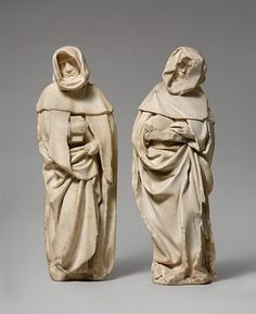 Alabaster mourner figures from the tomb of John the Fearless, Duke of Burgundy, and his wife, Margaret of Bavaria.ca 1443-1456