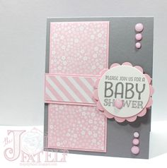 Saturdays with Stampin Up! Baby Shower Invitation Part 3 baby cards Saturdays with Stampin Up! Baby Shower Invitation Part 3 - Baby Showers Tarjetas Baby Shower Niña, Cricut Baby Shower, Baby Shower Invitaciones, Baby Shower Invites For Girl, Baby Shower Scrapbook, Baby Girl Cards, New Baby Cards, Baby Shower Cards Handmade, Handgemachtes Baby