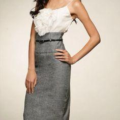 Dress Black Halo White and Gray Cami Dress. Brand New, never worn. Black Halo Dresses
