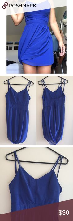 NWT blue dress Adorable blue dress with low back and asymmetric layered bottom. Side zipper closure with adjustable straps and fully lined. Never worn and still has tags attached so in perfect condition. KEEPSAKE the Label Dresses Mini