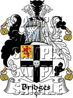 Bridges Family Crest apparel, Bridges Coat of Arms gifts