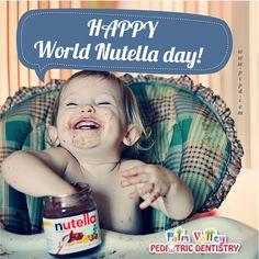 February 5th, World Nutella Day!  Palm Valley Pediatric Dentistry - Goodyear - 623-535-7873  #children #love #cute #sweet #pretty #little #fun #family #baby #happy #smile #dentist #pvpd #pediatricdentist #goodyear #surprise #surpriseaz #phoenix #phoenixaz #avondale #litchfieldpark #verrado #dentalcare #oralhealth #kidsdentist #childrendentist #superbowl #falcon #patriots