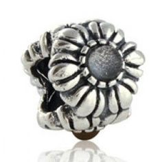 Sterling Silver April with Rock Crystal Birthday Blooms Birthstone Charms  Fit pandora,trollbeads,chamilia,biagi,soufeel and any customized bracelet/necklaces. #Jewelry #Fashion #Silver# handcraft #DIY #Accessory