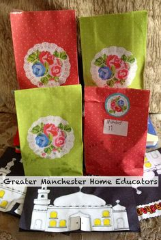 The kids distributed these bags containing homemade shortbread biscuits and a card with information about ramadhan to our neighbours Homemade Shortbread, Shortbread Biscuits, Manchester Home, Eid Mubarak, Goodie Bags, Uae, Ramadan, Festivals, Islamic