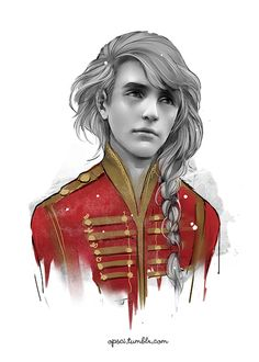 """""""This smile was not ended when the report resounded."""" Enjolras as pictured in the book."""