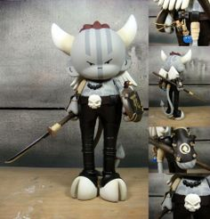 """Huck Gee's """"The Grifling with a Long Pointy Stick"""" custom Munny series... is AMAZING!"""