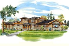 Looking for the best house plans? Check out the Northern Lodge plan from Southern Living. Southern Living House Plans, Country House Plans, Luxury House Plans, Best House Plans, Norfolk House, Interior Columns, Valensole, Mountain House Plans, Double Front Doors