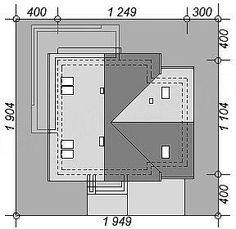 Usytuowanie projektu Galilea BIS na działce Bar Chart, Floor Plans
