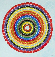 "Alma Thomas (1891-1978) Lunar Rendezvous-Circle of Flowers, 1969 oil on canvas 50"" x 48"", signed and dated"