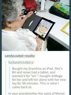 Grandma got some hidden skills