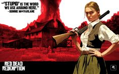 Wallpaper with #ConceptArt of Bonnie McFarlane from #RedDeadRedemption