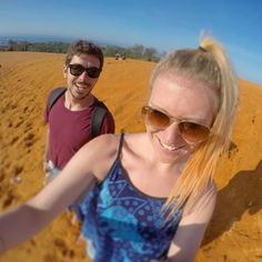 The Red Sand Dunes matched my new hair colour.  #orange...  Instagram travelquote