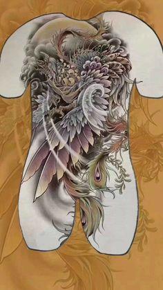Grey Ink Tattoos, Baby Tattoos, Body Art Tattoos, Girl Tattoos, Crow Tattoos, Japan Tattoo Design, Phoenix Tattoo Design, Phoenix Tattoos, Symbols Of Strength Tattoos