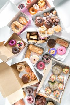 When you order 10 boxes of cute donuts and pile them up for a picture.