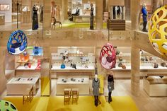Peter Marino channels happiness for renovation of Louis Vuitton store in west London Pop Art Colors, Tracey Emin, Louis Vuitton Store, James Turrell, Checkerboard Pattern, Bond Street, West London, Shop Interiors, Retail Design