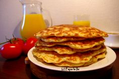 Pancakes with cheese and ham... | Papa la Ile